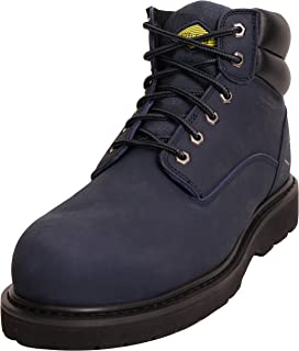 6 Inch Non Slip Steel Toe Work Boots for Men, Dependable Safety with Protective Oil Resistant Mens Shoes, Outdoor Construction, Lightweight and Waterproof Electrician Workboots