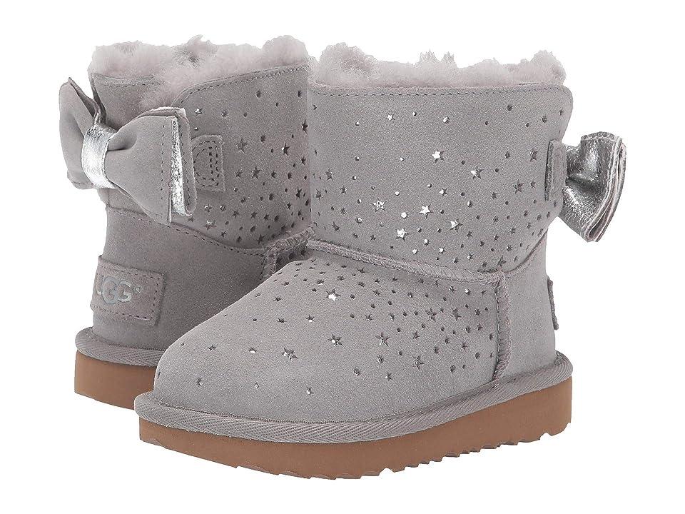 UGG Kids Stargirl Classic Mini II Bow (Toddler/Little Kid) (Seal) Girls Shoes