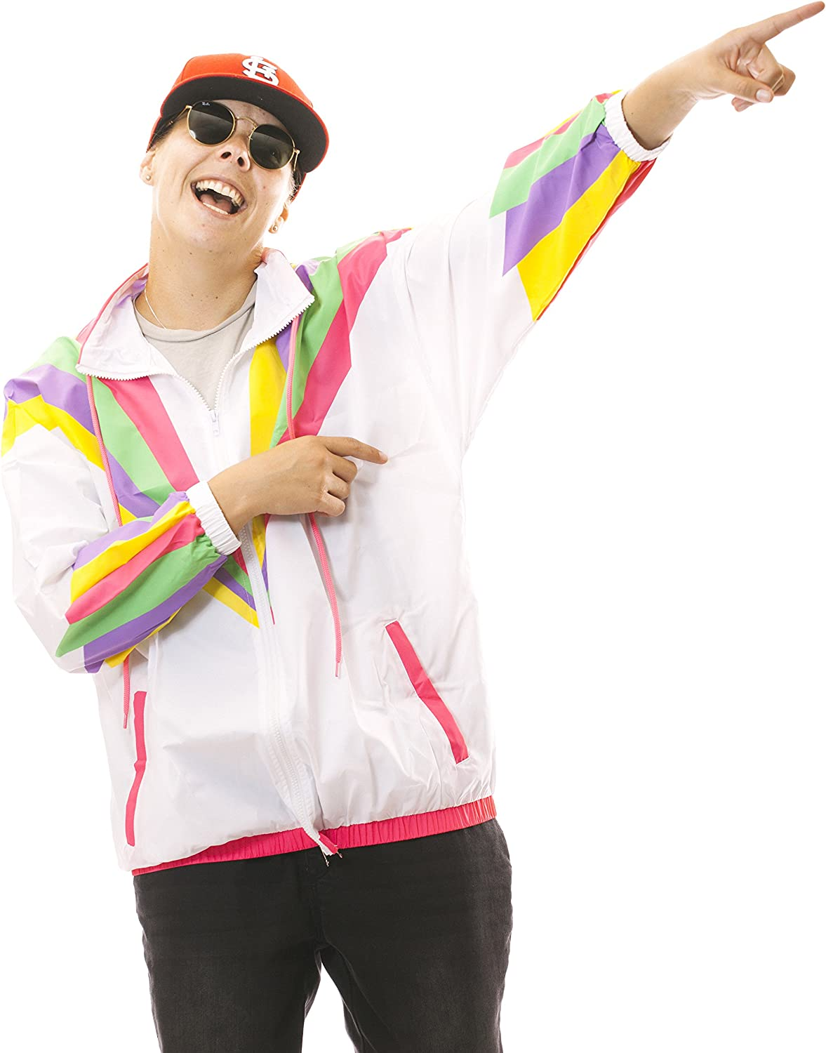 90s Outfits for Guys | Trendy, Party, Cool, Casaul Funny Guy Mugs Rad 80s & 90s Retro Neon Windbreaker  AT vintagedancer.com