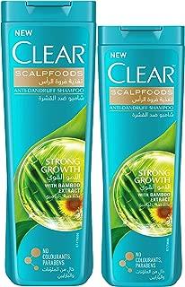Clear Anti-Dandruff Shampoo Strong Growth 400 ml with Shampoo, 350 ml