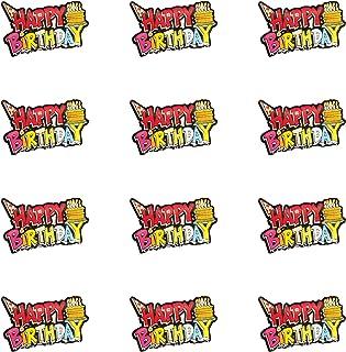 LED Happy Birthday Blinky Pin - 12 Pack