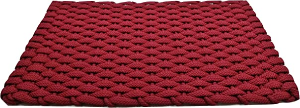 "Rockport Rope Doormats 2038351 Indoor & Outdoor Doormats, 20"" x 38"", Red"