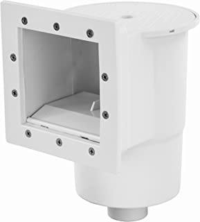 Rx Clear Heavy Duty Standard Complete Thru-Wall Skimmer Kit for Above-Ground Swimming Pool   Made of Non-Corrosive Abs Plastic   Chemical Resistant   White