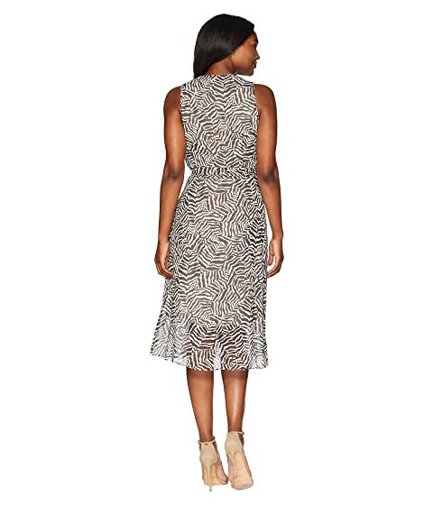 Dress Anne Midi Animal Klein Print Neck V xqBzw
