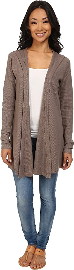 Hooded Open Cardigan Thermal Wrap