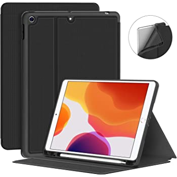 Supveco New iPad 10.2 Case 2019 with Pencil Holder - Premium Shockproof Case with Auto Sleep/Wake Feature for iPad 10.2 inch 7th Generation
