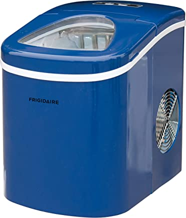 Frigidaire EFIC108-BLUE EFIC108 Portable Compact Maker, 26LBs Per Day, Ice Making Machine, Blue, Black