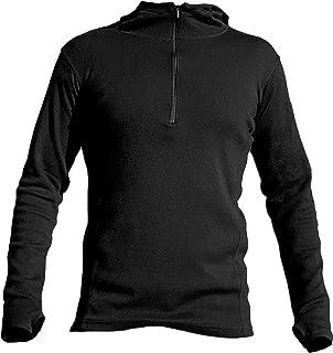 AoA Men's 420 Royal Alpaca MID Layer: (Half Zip Hoodie) Eco Hiking Sweatshirt