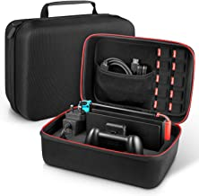 Carrying Case for Nintendo Switch - Younik Deluxe Hard Shell Travel Storage Case for Switch Console, Switch Dock, AC Adapter, HDMI Cable, Pro Controller and 10 Game Cartridges
