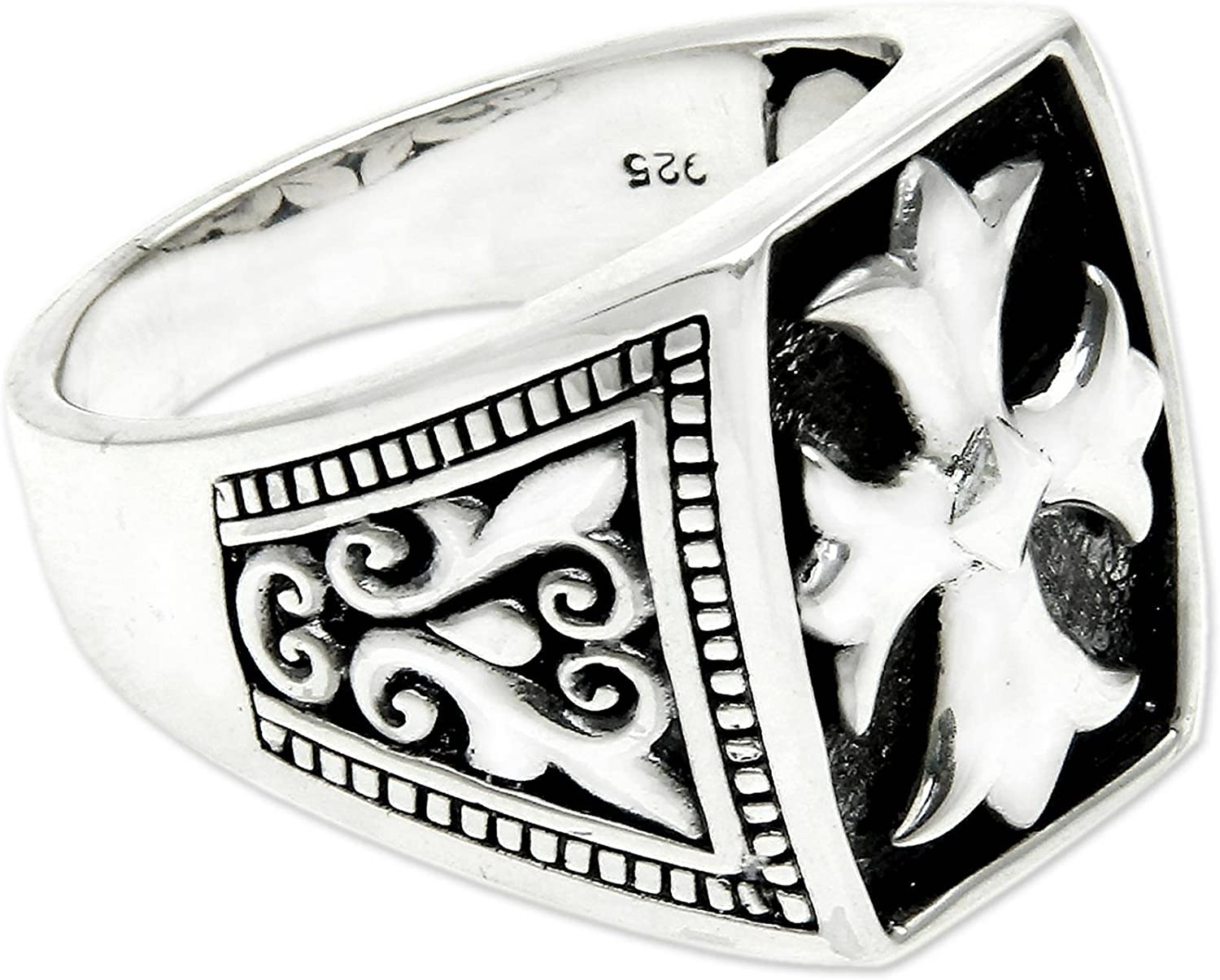 NOVICA .925 Sterling Silver Ring Cross Knight' Gifts Manufacturer OFFicial shop Brave