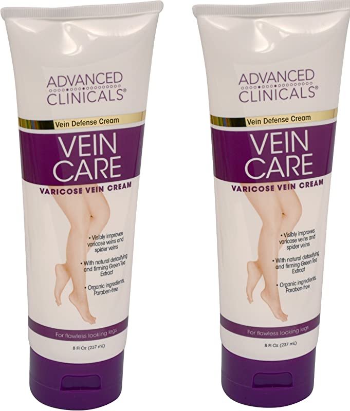 Advanced Clinicals Vein Care Eliminate The Appearance Of Varicose Veins Spider Veins Guaranteed Results Two 8oz