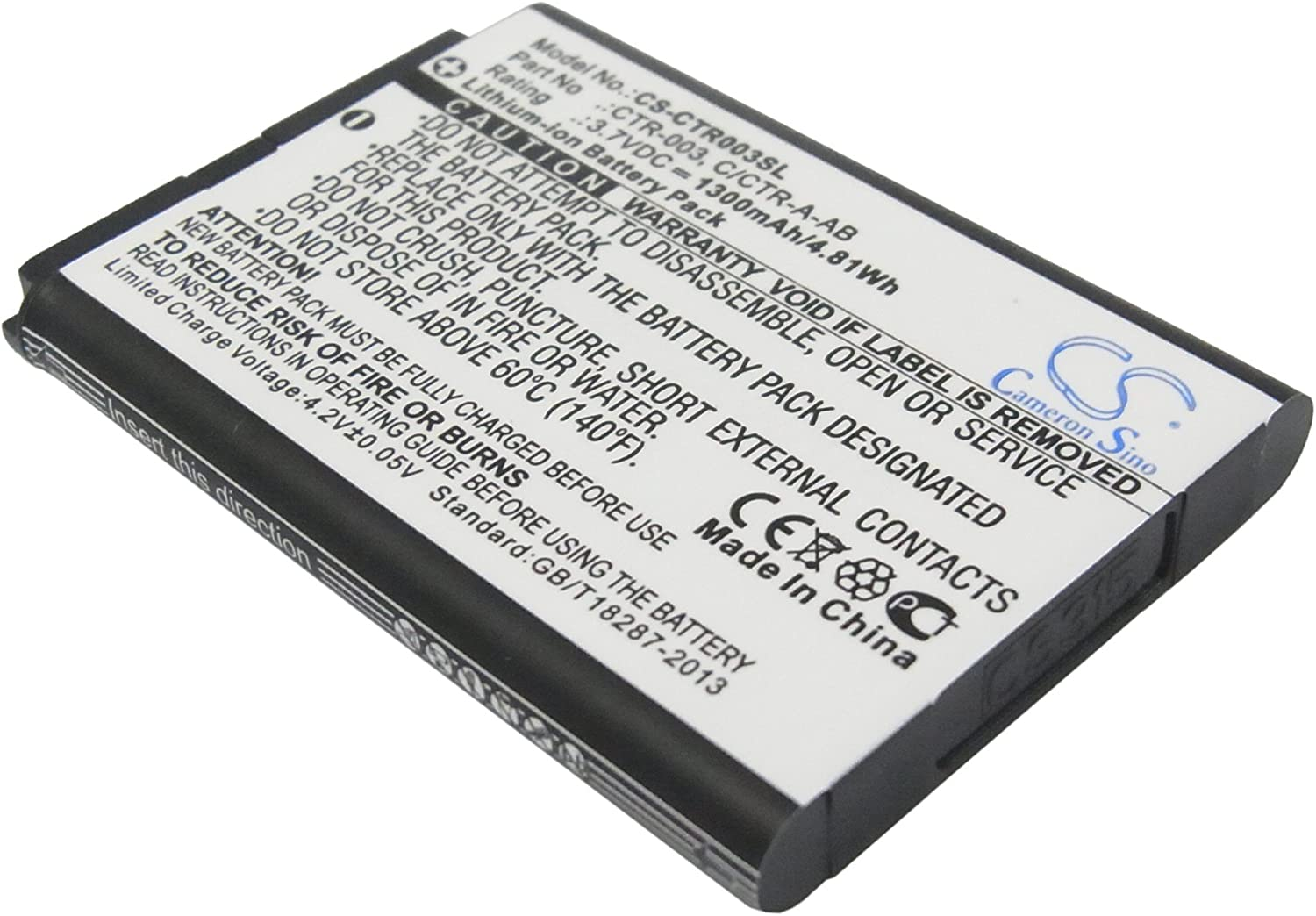 GAXI gift Battery for Nintendo 2DS CTR-001 XL MIN-CTR JAN-001 3DS Max 64% OFF
