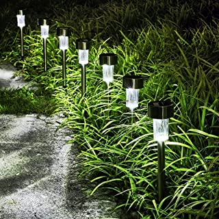 Solar Garden Light Outdoor, LED Outdoor Landscape Lighting, Long Playing Time Lighting Modes for Garden, Yard, Pathway, Lawn and Landscape(10 Pcs)