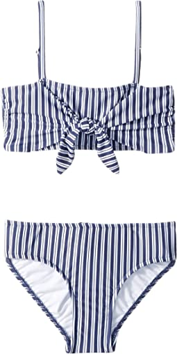 Ocean Tapestry Tie Mini Tube Bikini (Little Kids/Big Kids)