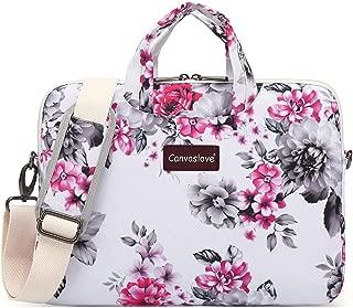 Canvaslove Chrysanthemum Waterproof Laptop Shoulder Messenger Case Sleeve Bag for iPad 12.9 inch,MacBook Pro 13