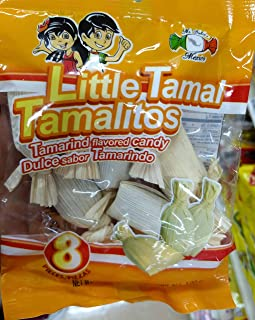 Dulces Tipicos Mexican Tamarind Candy,Little Tamal Tamalitos pack of 1 (total 8 pieces
