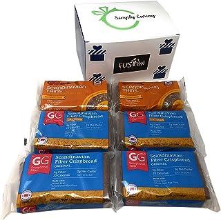 GG Scandinavian Crispbread Thins, Pack of 6 (3 Flavors: Original, Original Oat Bran and Pumpkin Seed) in Fusion Select Gif...