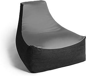 Jaxx Strato Spandex/Denim Bean Bag Chair for Teens, Silver