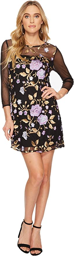 Jack by BB Dakota - Jaelyn Embroidered Mesh Dress