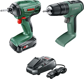 Bosch 2 Piece 18V Kit: UniversalImpact 18, PDR 18 LI with 1 x 2.5Ah Battery and Fast Charger