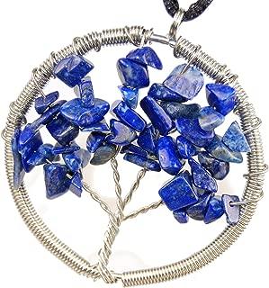 Steampunkers USA Tranquil Lapis Lazuli, Blue Gemstone Tree of Life 50mm / 1.96