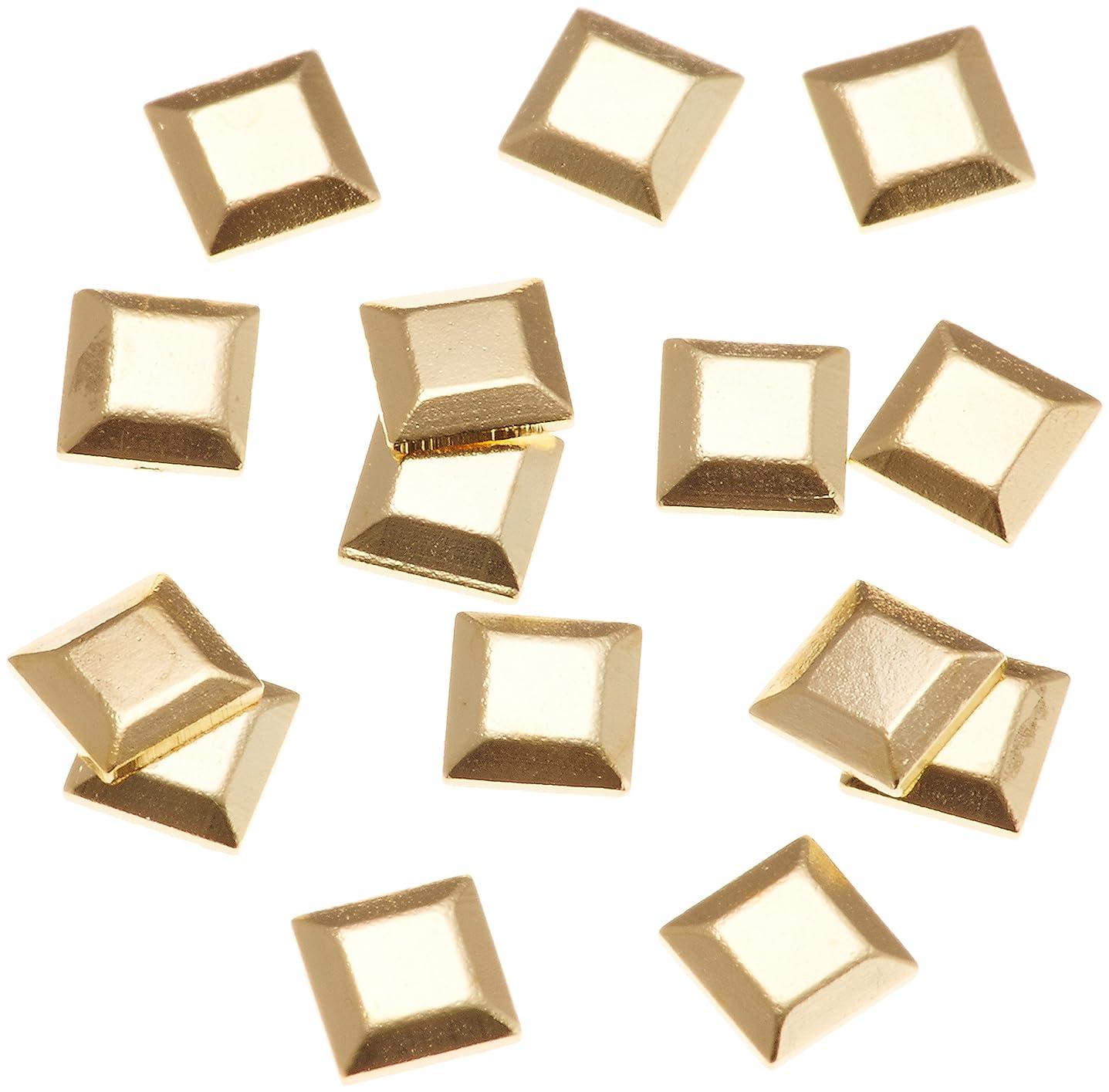 適応的揮発性リファインリトルプリティー ネイルアートパーツ スタッズスクエア ゴールド 200個