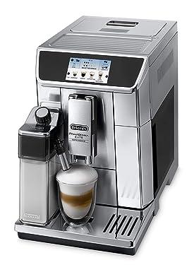 De'Longhi PrimaDonna Elite Experience ECAM 656.85.MS Kaffeevollautomat mit Milchsystem, Cappuccino auf Knopfdruck, 4,3 Zoll Farbdisplay, App-Steuerung, Trinkschokoladenfunktion, Edelstahlfront, silber