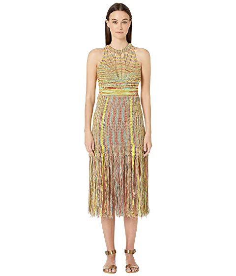 M Missoni Crochet Dress with Fringe