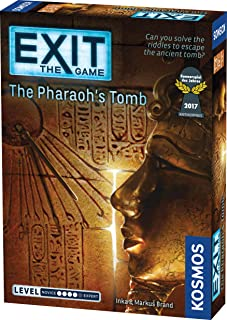 Exit: The Pharaoh's Tomb | Exit: The Game - A Kosmos Game | Kennerspiel Des Jahres Winner | Family-Friendly, Card-Based at...