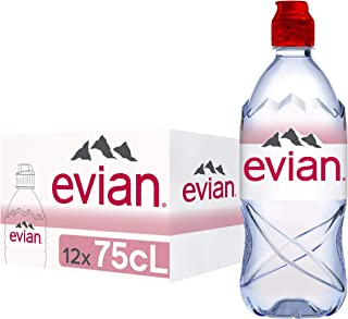 Evian Natural Mineral Water with Sports Cap 12 x 750ml