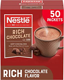 Nestle Hot Chocolate Packets, Hot Cocoa Mix, Rich Chocolate Flavor, Made with Real Cocoa,..