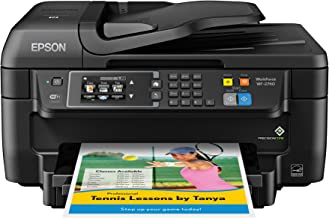 Epson WF-2760 All-in-One Wireless Color Printer with Scanner, Copier, Fax, Ethernet, Wi-Fi Direct & NFC, Amazon Dash Reple...