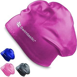 Swimtastic – Long Hair Swim Cap – Durable Silicone Swim Cap for Long, Thick,..