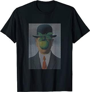The Son of Man, Pixel Art T-shirt | Rene Magritte Tee T-Shirt