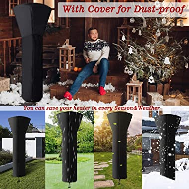 JOYCOLOR Patio Heater Propane 48000 BTU: Use for Outside Garden Porch Deck & Commercial Space | Standing Safety Outdoor H