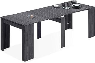 Habitdesign - Mesa de Comedor Consola, Mesa Extensible, Mesa para Salon recibidor o Cocina, Acabado en Gris Ceniza, Medidas: 50/235 cm (Largo) x 90 cm (Ancho) x 78 cm (Alto)