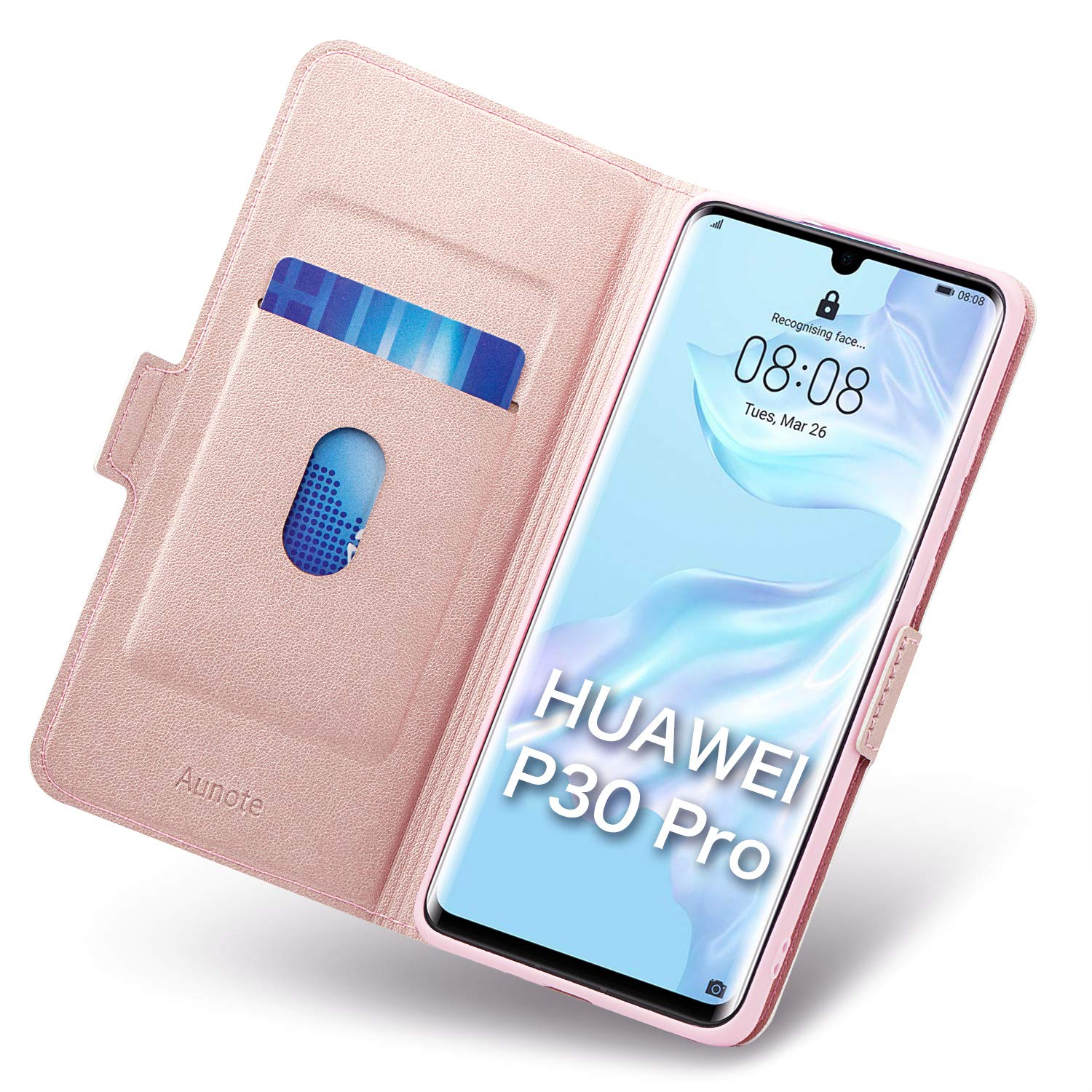 Ultra Slim Huawei P30 Pro Leather Case Kickstand Flip//Folio Phone Cover Full Protection Huawei P30 Pro Case Wallet Black P30 Pro Phone Cases Huawei P30 Pro Cases with Card Holder