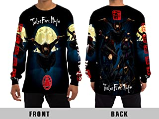 Twelve Foot Ninja Heavy Metal Rock Band Unisex Adult Sublimation Print for Men and Women Long Sleeve T-Shirt