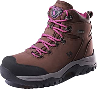 CAMEL CROWN Women's Waterproof Hiking Boots Outdoor Lightweight Work Safety Boots