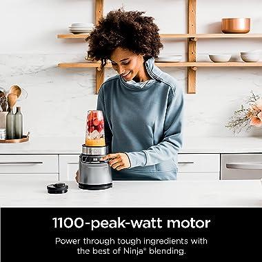 Ninja (BN401) Nutri Pro with Auto-iQ, 1100-Peak-Watt, Personal Blender, Cloud Silver