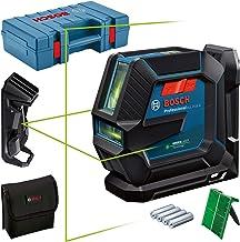 Bosch Professional 0601063W02 lijnlaser GLL 2-15 G (groene laser, binnen, houder LB 10, plafondklem, zichtbare werkruimte:...