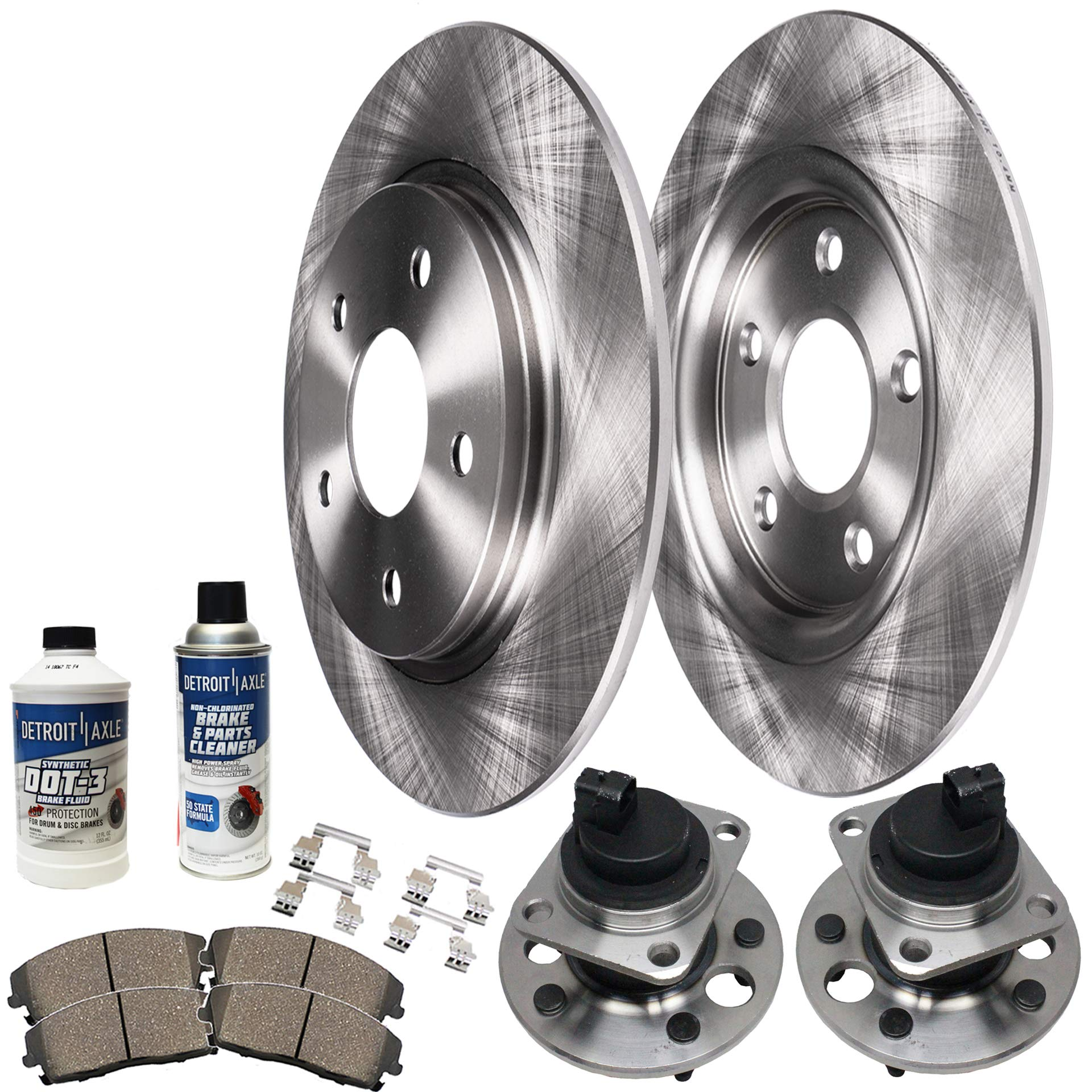 2004 Cadillac Deville See Desc. OE Replacement Rotors w//Ceramic Pads F+R
