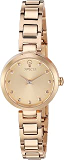 Invicta Women's Gabrielle Union Quartz Watch with Stainless-Steel Strap, Gold, 6 (Model: 22949)