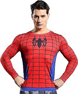 GYm GaLa Men's Spider-Man 3D Printed Compression Sport Fitness T-Shirt