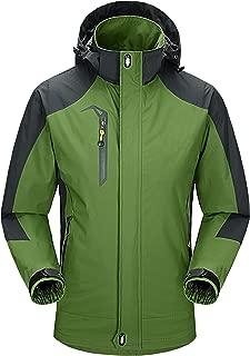 ZITY Men's Ski Jacket Waterproof 3 in 1 Windproof Hooded Snow Coat Winter Warm