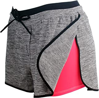 Women Workout Running Shorts 2 in 1 Sport Shorts Yoga Gym Athletic