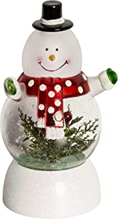 Light Up Snowman Christmas Ornament Acrylic Figurine Lights with Color Changing, Xmas Figurine Light Decoration for Christmas Holiday, Home, Kid Room, 8 Inch -3 AAA Batteries Powered (Snowmen)