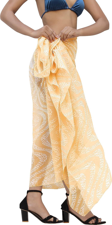LA LEELA Women's Swimsuit Cover Up Beach Wrap Skirt Hawaiian Sarongs Full Long G