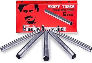 Escobar Accessoires - tubos de aspiración fabricados en acero inoxidable higiénico, con grabado - 60 mm - 5 unidades