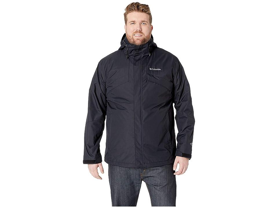 Columbia Big Tall Bugabootm II Fleece Interchange Jacket (Black/Charcoal Heather) Men
